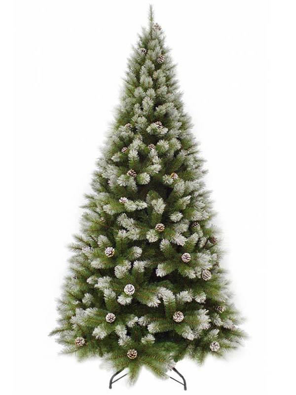 Ель Triumph Tree Женева 155cm с шишками Заснеженная 73116