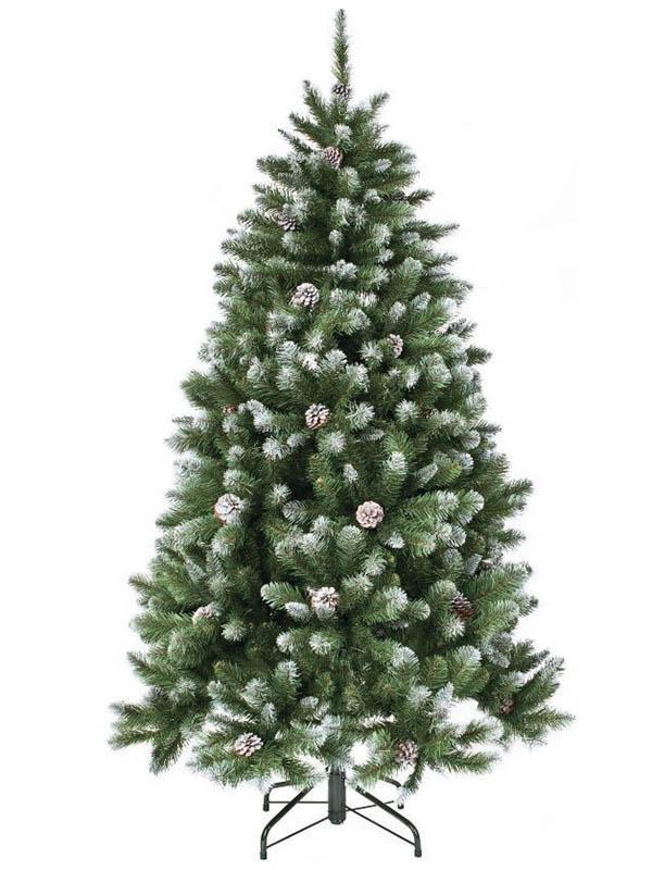 Ель Triumph Tree Императрица с шишками 120cm Заснеженная