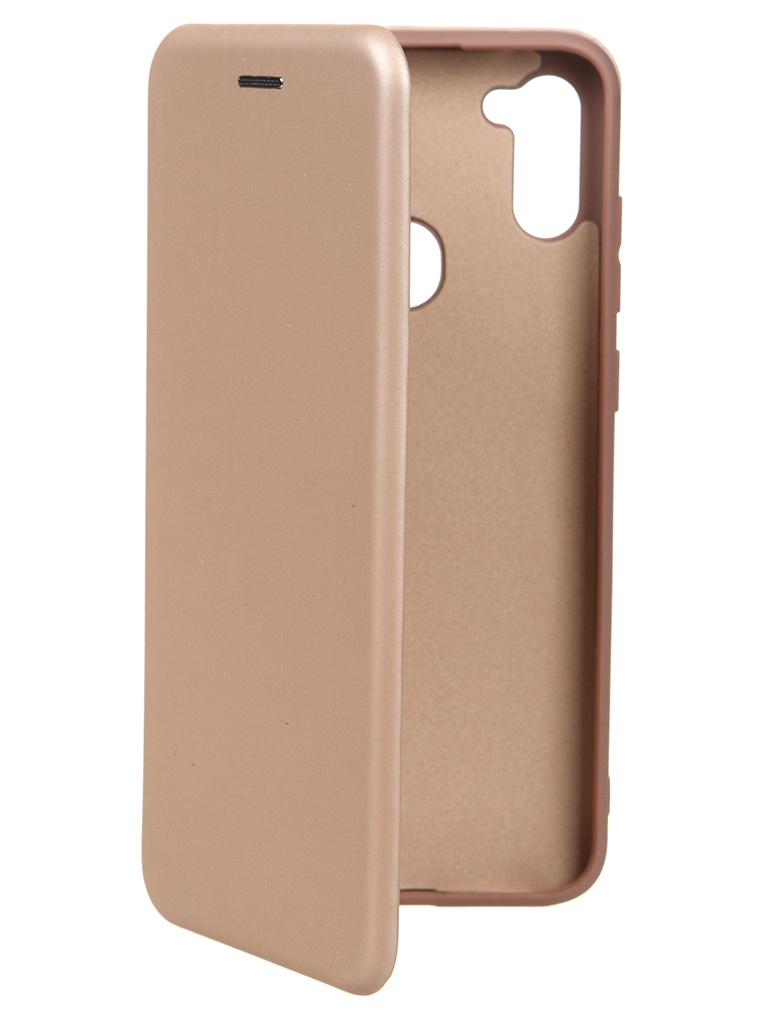 Чехол Krutoff для Samsung Galaxy M11 / A11 Soft Book Gold 11164
