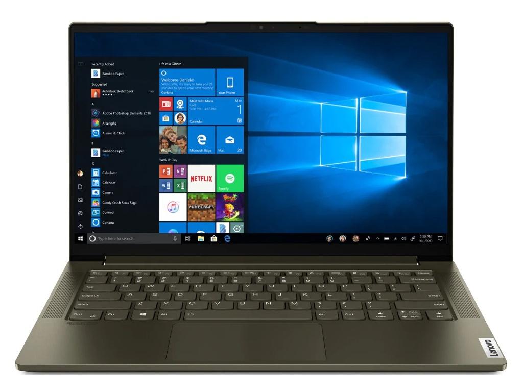 Ноутбук Lenovo Yoga Slim 7-14IIL05 82A100H5RU (Intel Core i5-1035G4 1.1 GHz/16384Mb/512Gb SSD/Intel Iris Plus Graphics/Wi-Fi/Bluetooth/Cam/14.0/1920x1080/Windows 10 Home 64-bit)