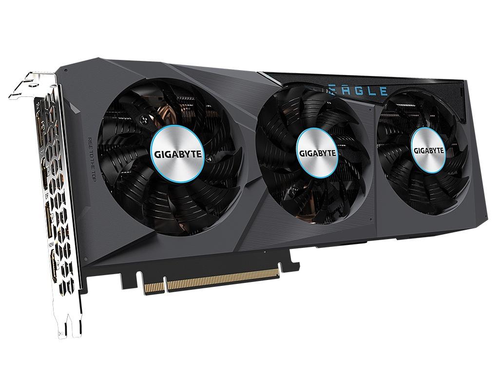 Видеокарта GigaByte GeForce RTX 3070 Eagle OC 8G 1770Mhz PCI-E 4.0 8192Mb 14000Mhz 256-bit 2xHDMI 2xDP GV-N3070EAGLE OC-8GD Выгодный набор + серт. 200Р!!!