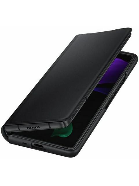 Чехол для Samsung Galaxy Z Fold 2 Leather Flip Cover Black EF-FF916LBEGRU