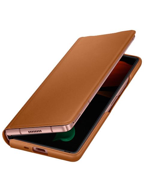Чехол для Samsung Galaxy Z Fold 2 Leather Flip Cover Brown EF-FF916LAEGRU