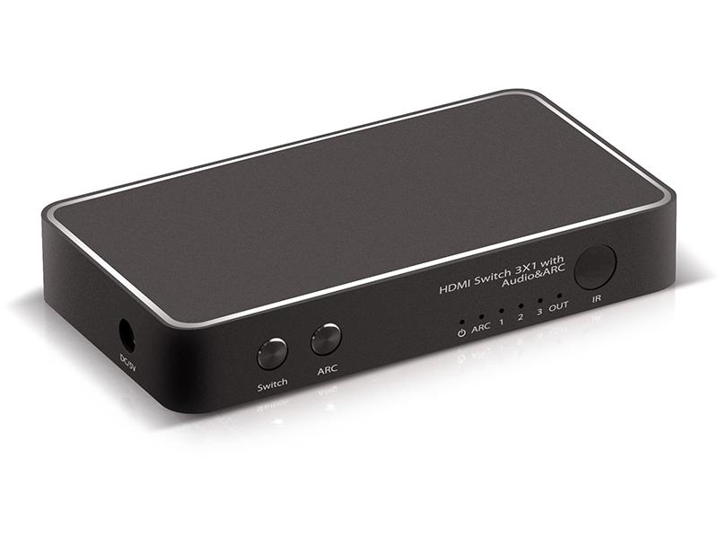 Фото - Сплиттер Greenconnect 3xHDMI - HDMI GL-v301F сплиттер greenconnect greenline переключатель gl tc06 hdmi 5к1 gl vtc06