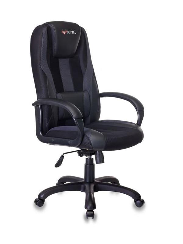 Фото - Компьютерное кресло Бюрократ Viking-9 Black Выгодный набор + серт. 200Р!!! компьютерное кресло chairman game 17 black grey 00 07024558 выгодный набор серт 200р