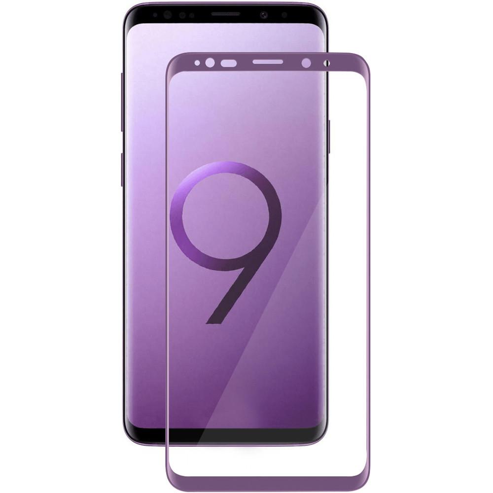 Защитное стекло Media Gadget для Samsung Galaxy S9 Plus 3D Full Cover Glass Purple Frame D3DGS9PVT