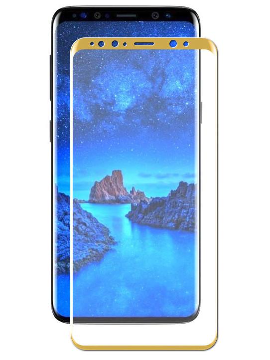 Защитное стекло Media Gadget для Samsung Galaxy S9 Plus 3D Full Cover Glass Gold Frame D3DGS9PGD