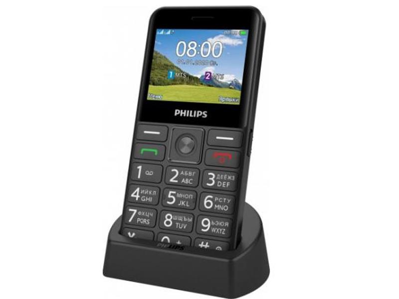 Сотовый телефон Philips E207 Xenium Black сотовый телефон philips e125 xenium blue