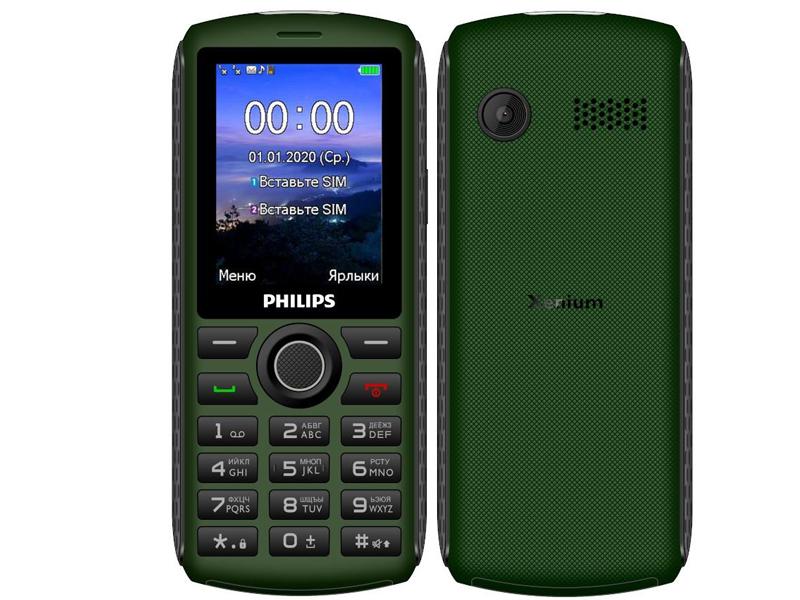 Сотовый телефон Philips E218 Xenium Green сотовый телефон philips e125 xenium blue