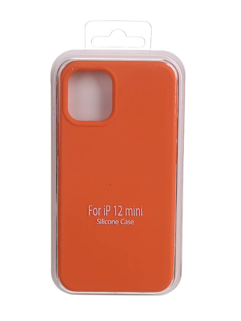 Чехол Krutoff для APPLE iPhone 12 Mini Silicone Case Orange 11026