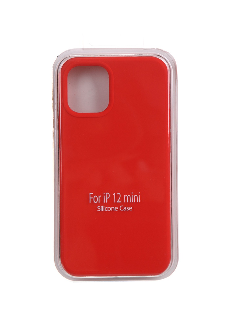 Чехол Krutoff для APPLE iPhone 12 Mini Silicone Case Red 11029