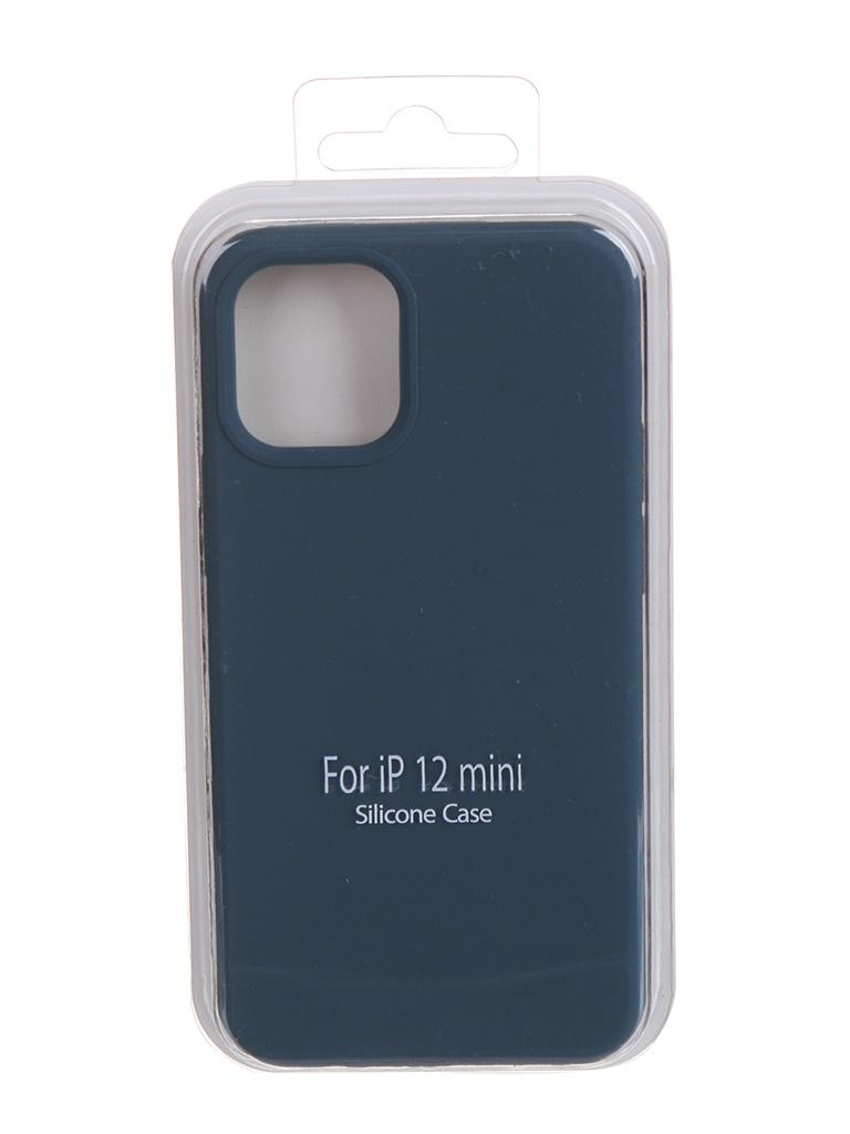 Чехол Krutoff для APPLE iPhone 12 Mini Silicone Case Gray Blue 11137 чехол krutoff для apple iphone 12 12 pro silicone case gray blue 11146