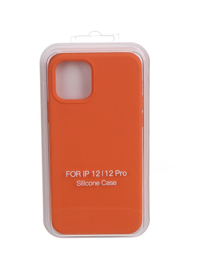 Чехол Krutoff для APPLE iPhone 12 / 12 Pro Silicone Case Orange 11140 чехол krutoff для apple iphone 12 12 pro silicone case gray blue 11146