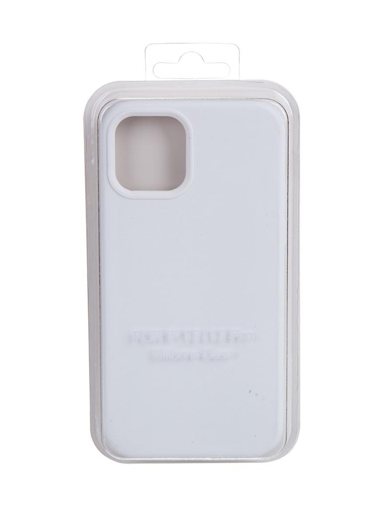 Чехол Krutoff для APPLE iPhone 12 / 12 Pro Silicone Case White 11142 чехол krutoff для apple iphone 12 12 pro silicone case gray blue 11146