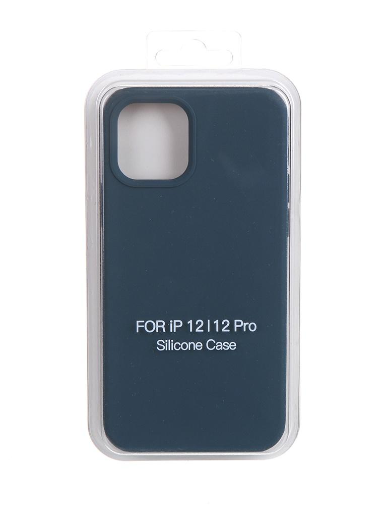 Чехол Krutoff для APPLE iPhone 12 / 12 Pro Silicone Case Gray Blue 11146 чехол krutoff для apple iphone 12 12 pro silicone case gray blue 11146