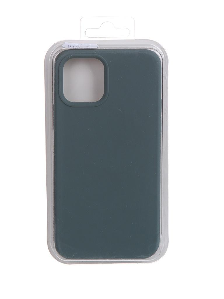 Чехол Krutoff для APPLE iPhone 12 / 12 Pro Silicone Case Dark Olive 11147 чехол krutoff для apple iphone 12 12 pro silicone case gray blue 11146