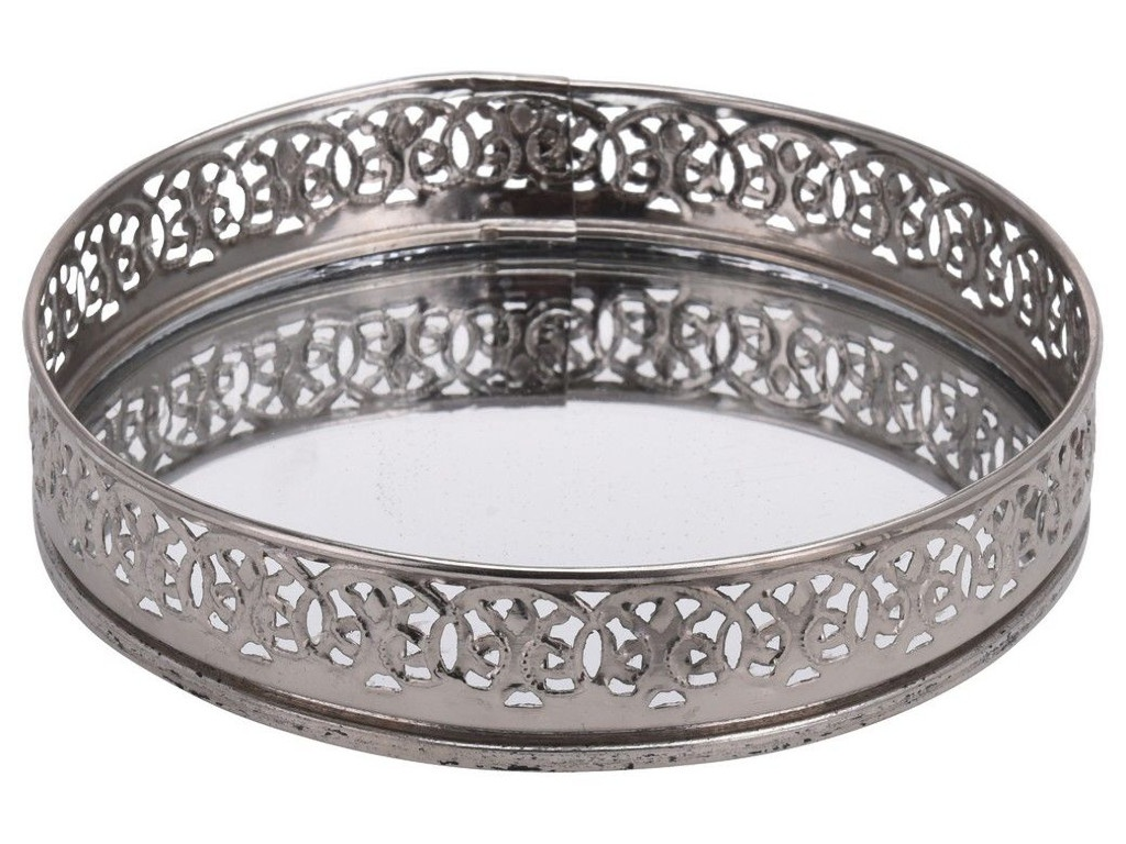 Подсвечник-поднос Kaemingk Рома-Неска Silver 15x15x3cm 166095 / A54027650
