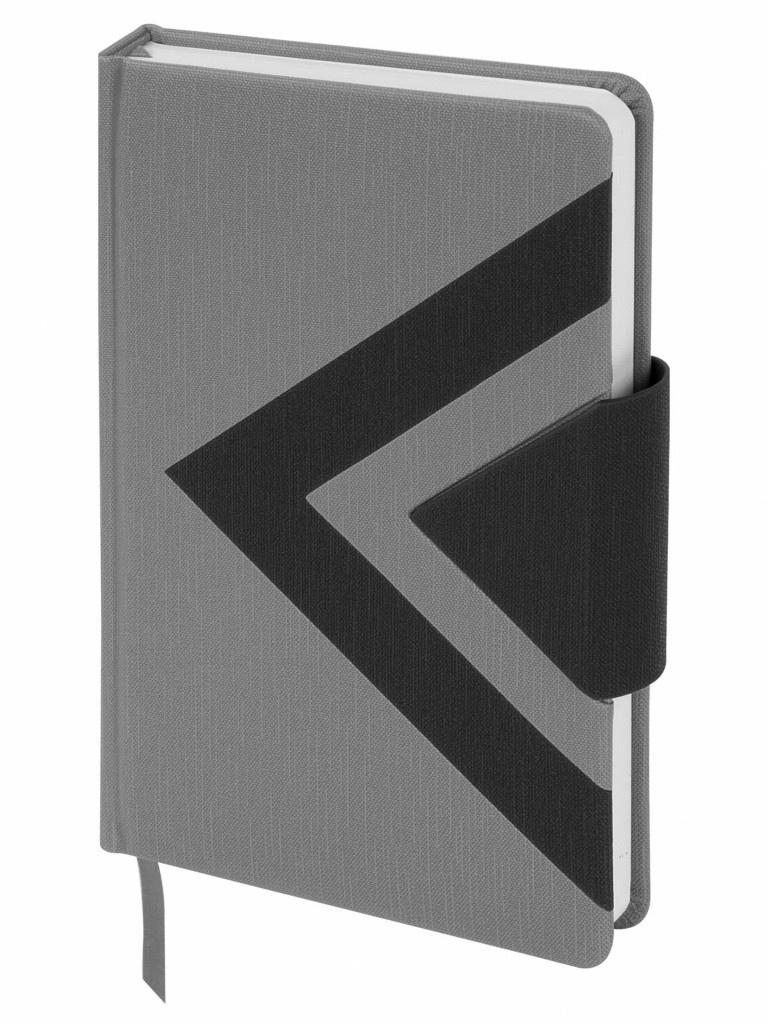 Ежедневник Brauberg Waves А5 160 листов Black-Grey 111875