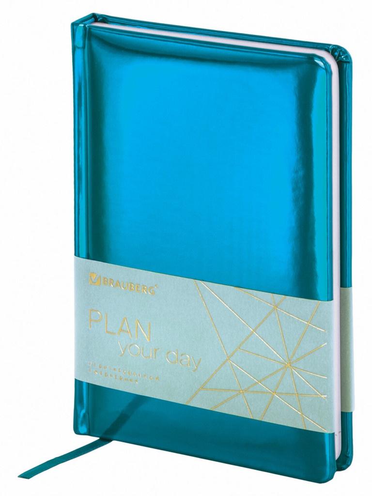 Ежедневник Brauberg Holiday А5 136 листов Turquoise 111866