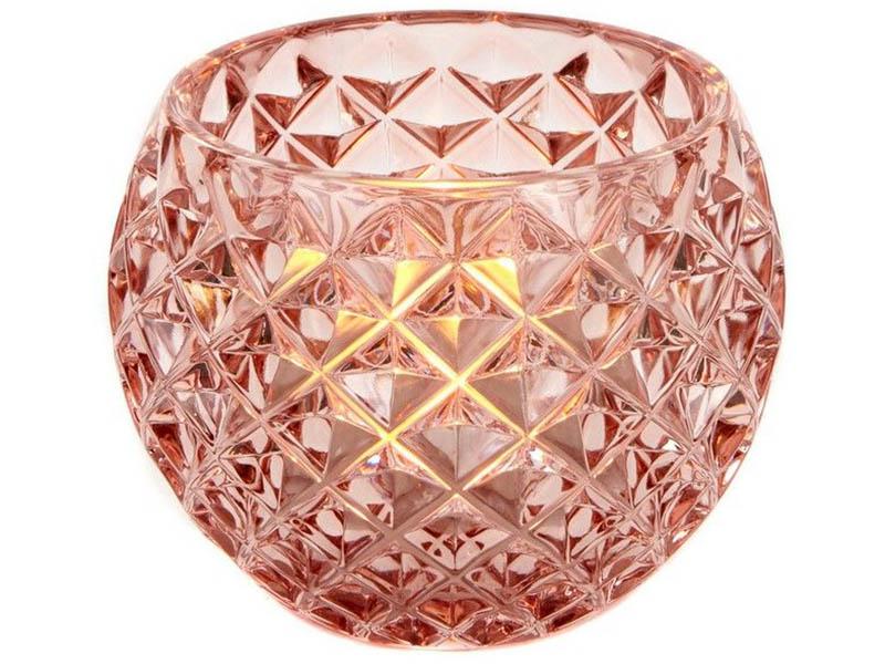 Подсвечник Омский свечной Нинон 9.5cm Pink MV 10022