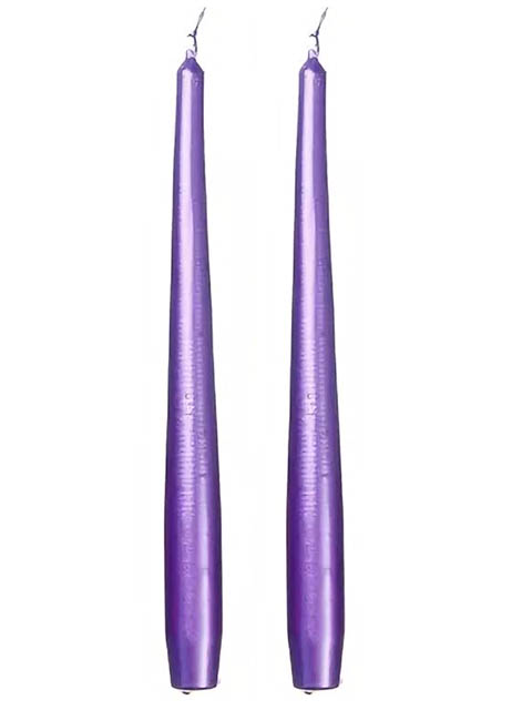 Свечи античные Омский свечной 2.3x25cm 2шт Lilac 7473