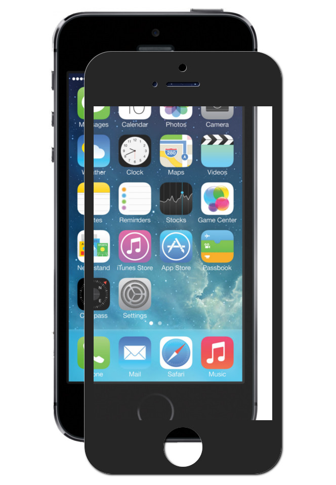 Защитное стекло Innovation для APPLE iPhone 5 / 5s 2D Full Glue Screen Black 19249