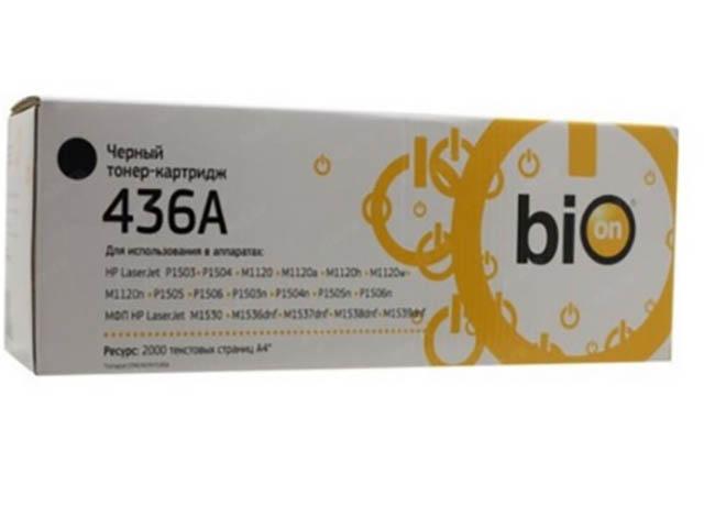 Картридж Bion BCR-CB436A Black для HP LaserJet P1500 / P1505n P1522 M1120n M1522f/n 1300276