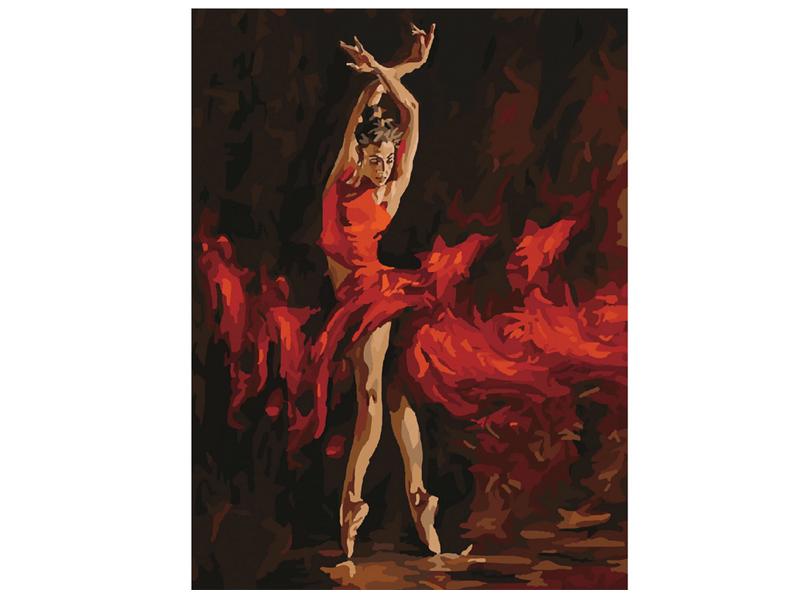 Картина по номерам Остров Сокровищ Огненная женщина 40х50cm 662467