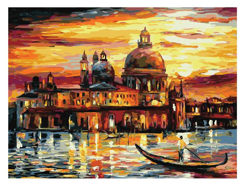 Картина по номерам Остров Сокровищ Ночная Венеция 40х50cm 662475
