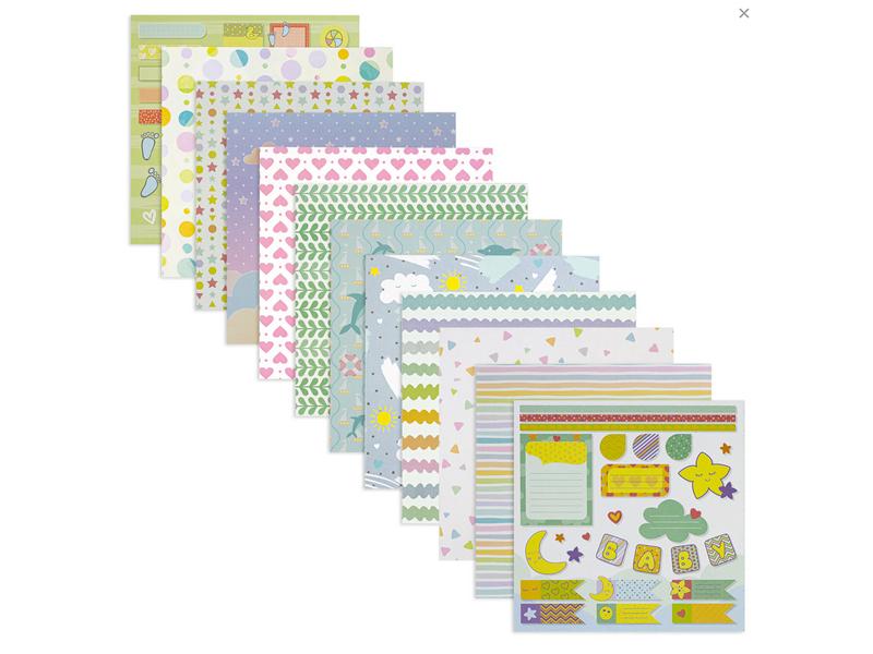 Набор для творчества Остров Сокровищ Бумага скрапбукинга 15х15cm 12 листов 662760