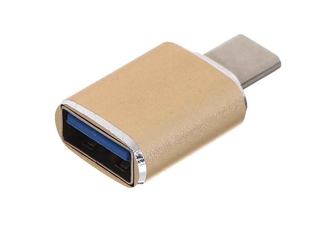 Фото - Аксессуар GCR USB Type-C - USB 3.0 M/AF Gold GCR-52301 аксессуар gcr usb type c 1 2m black yellow gcr 51867
