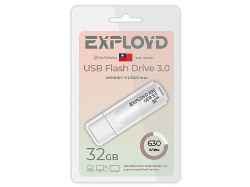USB Flash Drive 32Gb - Exployd 630 EX-32GB-630-White usb flash drive exployd 570 32gb purple