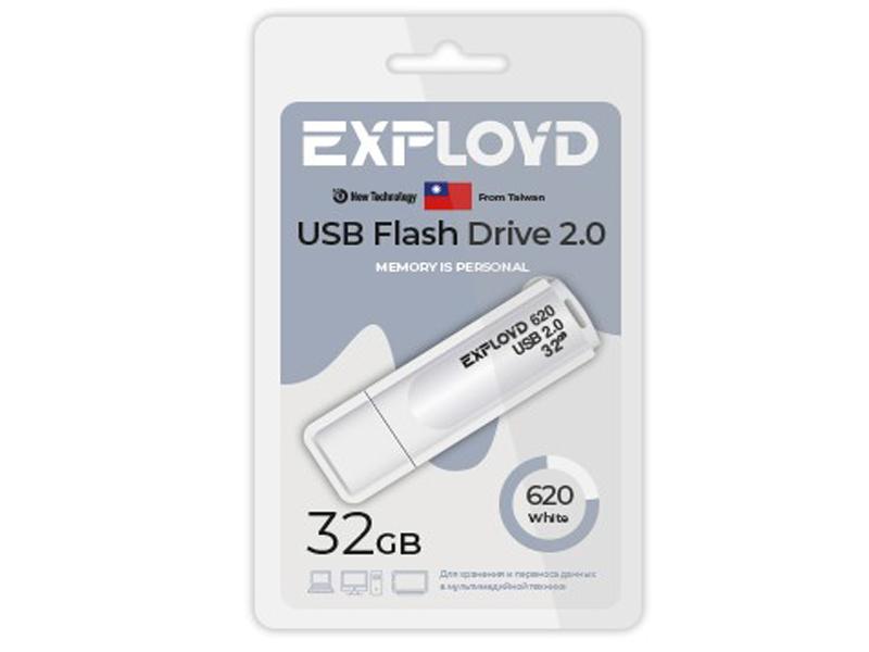 USB Flash Drive 32Gb - Exployd 620 EX-32GB-620-White usb flash drive exployd 570 32gb purple