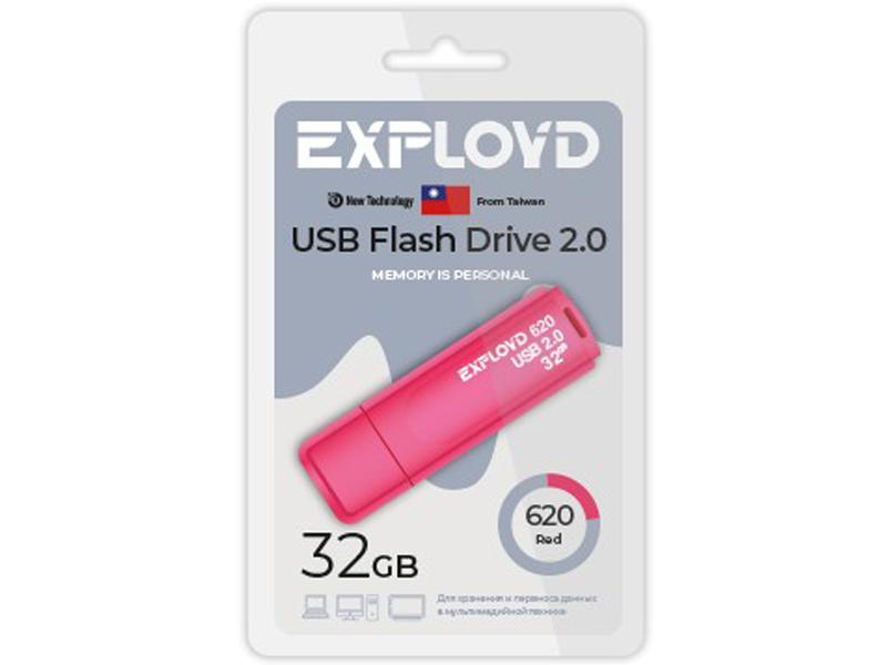 USB Flash Drive 32Gb - Exployd 620 EX-32GB-620-Red usb flash drive exployd 570 32gb purple