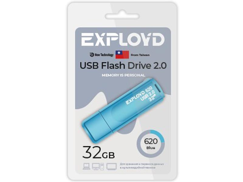Фото - USB Flash Drive 32Gb - Exployd 620 EX-32GB-620-Blue usb flash drive 32gb molti pebble universal usb 3 0 grey blue 15810 42