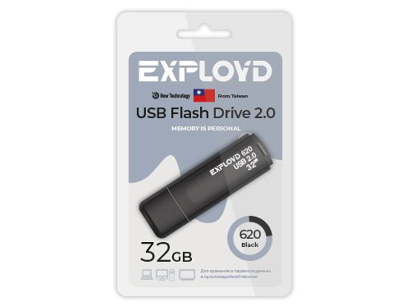 Фото - USB Flash Drive 32Gb - Exployd 620 EX-32GB-620-Black usb flash drive 256gb exployd 590 3 0 ex 256gb 590 black