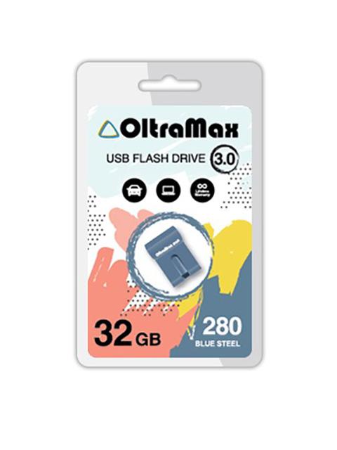 Фото - USB Flash Drive 32GB - OltraMax 280 3.0 OM-32GB-280-Blue Steel usb flash drive 32gb olmio u 181 42091