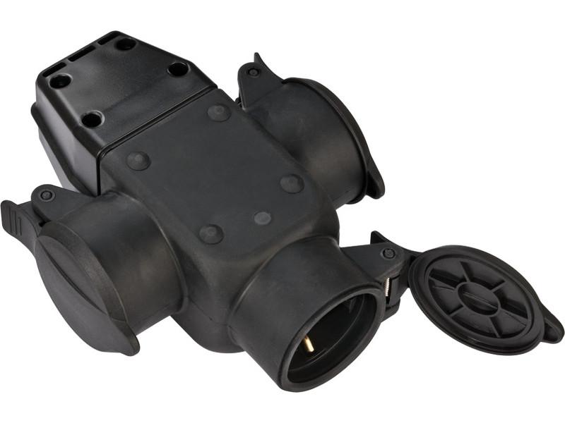 Муфта резиновая с заземлением Brennenstuhl 3 Socket 16A IP44 1082120