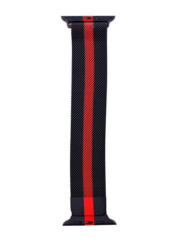 Аксессуар Ремешок Activ для APPLE Watch 42/44mm Milanese Black-Red 99613 аксессуар ремешок activ для apple watch 42 44mm milanese black red 99613