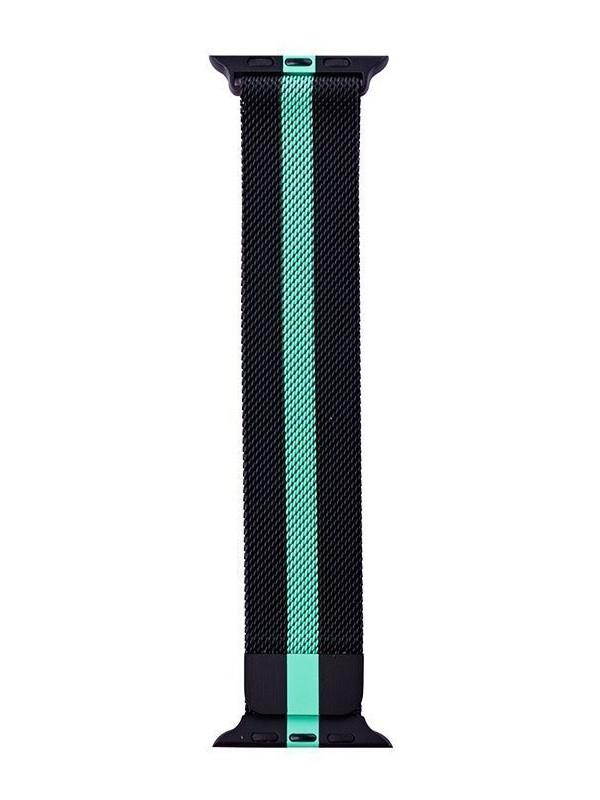 Фото - Аксессуар Ремешок Activ для APPLE Watch 42/44mm Milanese Black-Green 99689 аксессуар ремешок activ sport n для apple watch 42mm black green 80246