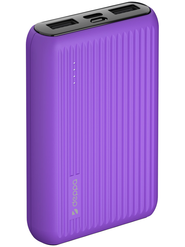Внешний аккумулятор Deppa Power Bank NRG Color 10000mAh Purple 33566