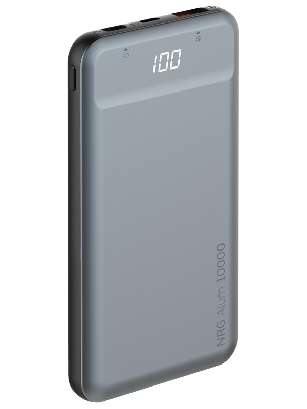 Внешний аккумулятор Deppa Power Bank NRG Alum 10000mAh Black 33557 зарядное устройство deppa nrg power 10000mah gray