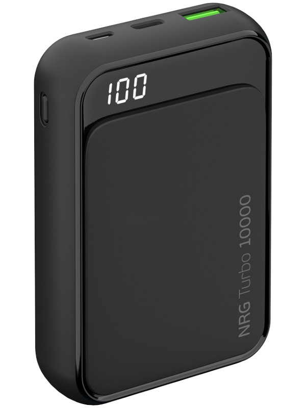 Внешний аккумулятор Deppa Power Bank NRG Turbo Compact 10000mAh Graphite 33555 deppa nrg turbo 15000 мач черный