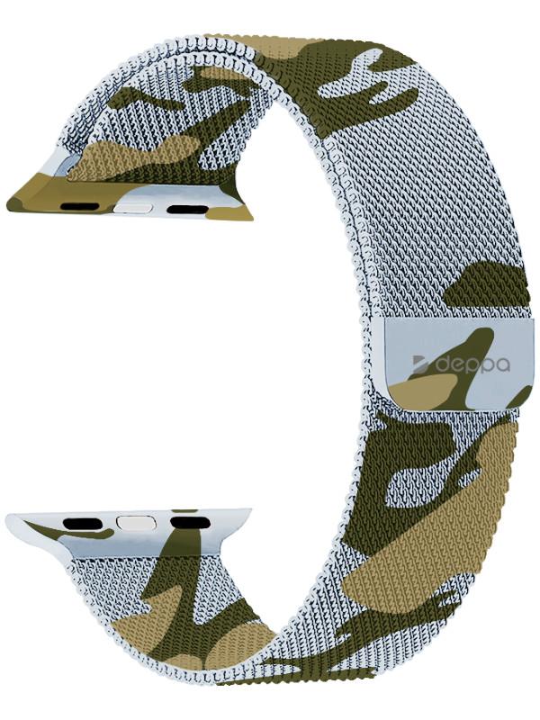 Аксессуар Ремешок Deppa для APPLE Watch 38/40mm Band Mesh Camouflage 47142