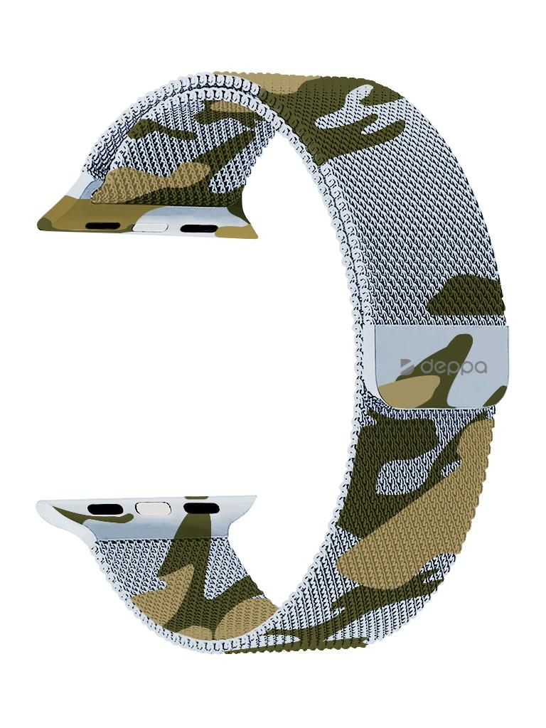 Аксессуар Ремешок Deppa для APPLE Watch 44mm/42mm Band Mesh Camouflage 47149 аксессуар ремешок apple watch 42mm activ ivory sport band 79545