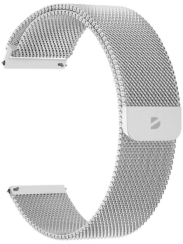 Аксессуар Ремешок Deppa универсальный Watch Band Mesh 20mm Silver 47181