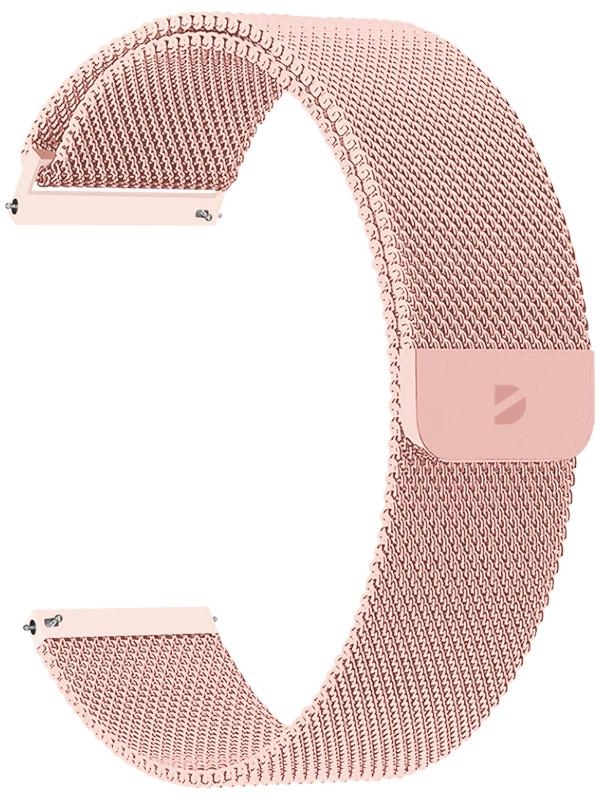 Аксессуар Ремешок Deppa универсальный Watch Band Mesh 20mm Pink gold 47182