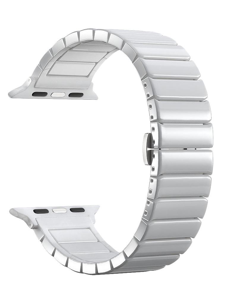Аксессуар Ремешок Deppa для APPLE Watch 44mm/42mm Band Ceramic White 47120