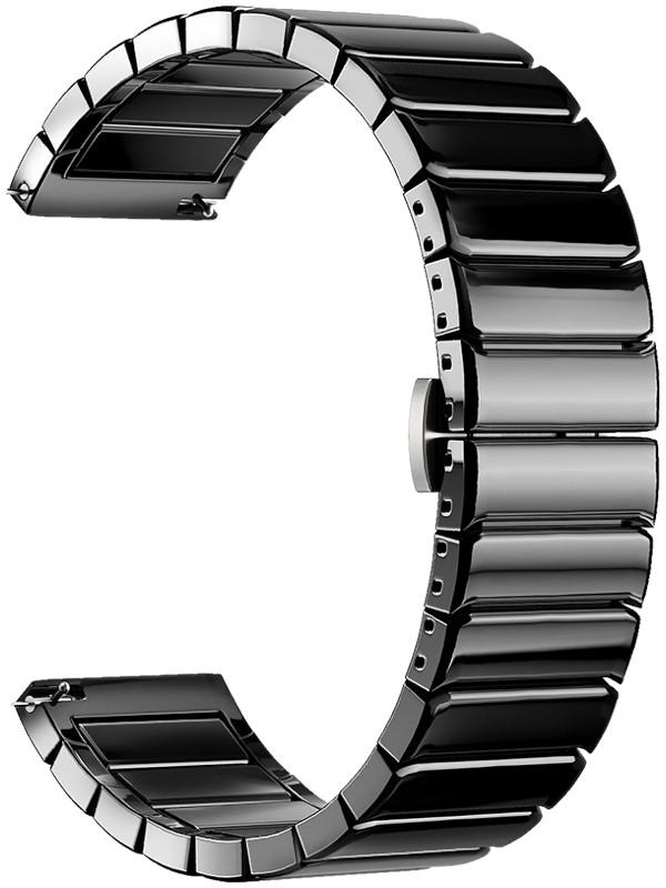 Аксессуар Ремешок Deppa универсальный Watch Band 20mm Ceramic Black 47170