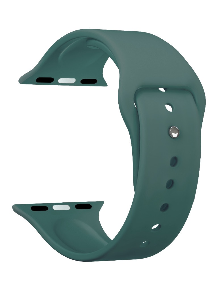 Аксессуар Ремешок Deppa для APPLE Watch 40mm/38mm Band Silicone Green 47126 аксессуар ремешок deppa для apple watch 40mm 38mm band nylon white 48103